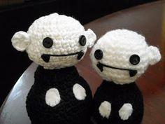 Amigurumi Nosferatu - pattern from book Creepy Cute Crochet