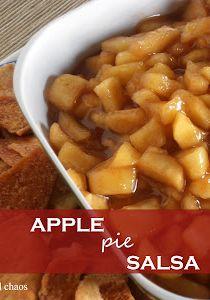 Apple Pie Salsa - Crumbs and Chaos #fall #apples www.crumbsandchaos.net