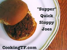 """Supper"" Quick Sloppy Joes with Udi's Whole Grain Hamburger Buns"