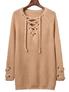 GET $50 NOW | Join RoseGal: Get YOUR $50 NOW!http://m.rosegal.com/sweaters/fall-criss-cross-bandage-sweater-813955.html?seid=2ue913tg30th4o41hhi1tbono7rg813955