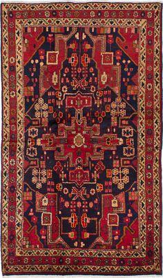 "Sensible On Sale Hand Knotted Persian Hamadan-zanjan Geometric Rug Carpet 3'5""x6'4"" Antiques"