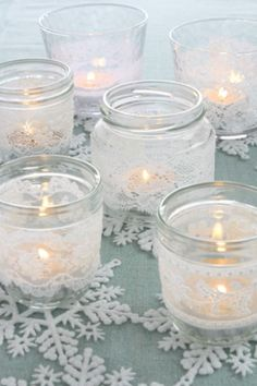 DIY Winter Candles
