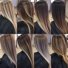 ❤✨Brunette and Blonde ✨Painted Hair✨ blends❤✨. I love seeing all the different tones each individual head of hair pulls to! Everyone gets their own unique color, session after session, building lightness and growing length all at the same time! Which one is your favorite?!!  Tag a friend ❤ Snapchat: Pa1ntedhair YouTube: Paintedhair Education list email ✨ Paintedhair1@gmail.com #b3 #brazilianbondbuilder #inspiredbyb3 #licensedtocreate #hairinspo #curledhair #modernsalon #americansa...
