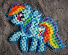My Little Pony Friendship is Magic Rainbow Dash perler beads by Miyuka