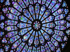 """""""You know you have OQD (Obsessive Quilting Disorder) when you look at the famous window in Notre Dame and think: Well that's just a very fancy Dresden plate."""""""