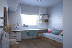 biurko pod oknem pokój dziecka - Google Search