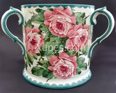 Wemyss Large Wemyss Cabbage Rose Painted Loving Cup C.1890 - Antiques & Fine Art Catalog - Xupes