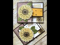 Fun Fold Cards, Folded Cards, Sunflower Cards, Sunflowers, Daisies, Card Tutorials, Crafty Projects, Stamping Up, Poinsettia