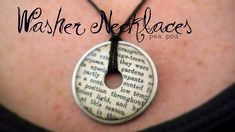 Washer necklace instructions.  It uses modpodge
