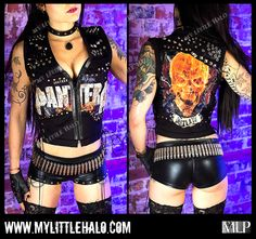 Spiked & Studded Pantera Metal Vest -My Little Halo http://www.mylittlehalo.com