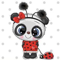 Cute Cartoon Boy, Cute Cartoon Drawings, Cartoon Sketches, Bear Cartoon, Ladybug Cartoon, Boy Illustration, Illustrations, Cute Panda Drawing, Panda Mignon