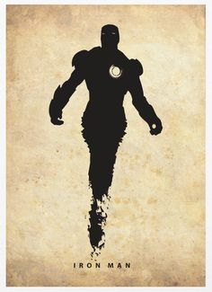 silhouetted poster of superheroes