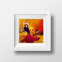 Gypsy Art, Gypsy Dancer, Art Prints, Gypsy Decor, #art #drawing @EtsyMktgTool http://etsy.me/2vD0HrF