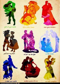 Disney Princess and their princes – Animation ideas Disney Pixar, Disney Marvel, Kida Disney, Walt Disney, Disney Couples, Disney And Dreamworks, Disney Girls, Disney Love, Disney Magic