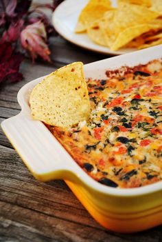 Wisconsin Cheese Fiesta Dip  This is a serve hot dip- looks yummy