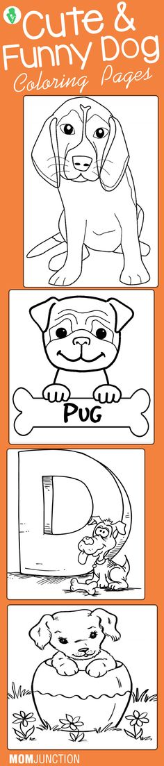 25 Cute & Funny Dog Coloring Pages Your Toddler Will Love To Color: Dogs are one of the most popular subjects of coloring sheet among kids. Here is a fine collection of dog coloring sheets for all the dog enthusiasts.