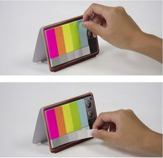 """"""" Mini TV Memo Pad Retro TV shaped pad with small sticky notes resembling a TV color test pattern """" Accordion Folder, Tv Retro, Home Office Accessories, Room Accessories, Mini Tv, Jet Pens, Sticky Notes, School Supplies, College Supplies"""