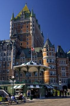 Picture: The luxurious accommodations at the Fairmont Le Chateau Frontenac in Old Quebec in Quebec, Canada are topped off with beautiful scenery of the Gulf of St. Lawrence and the Terrasse Dufferin. Old Quebec, Quebec City, Canadian Travel, Canadian Rockies, Chateau Frontenac, Ecuador, Honduras, Bolivia, Venezuela