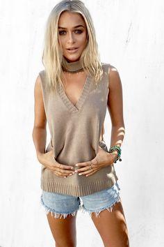 Buy Praline Collar Tank Online - Tops - Women's Clothing & Fashion - SABO SKIRT
