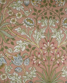 Hyacinth by William Morris. Brooklyn Museum: Decorative Arts: Wallpaper Sample Book