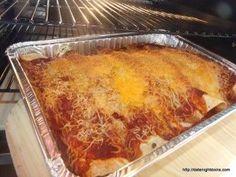 Smoky Chicken Enchiladas pellet grill BBQ smoker recipe