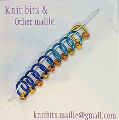Knitting Stitch Markers - Beaded Knit In The Round, Stitch Markers, Knitting Stitches, Gold Beads, Pretty Little, Different Colors, Create Yourself, Jewels, Shop
