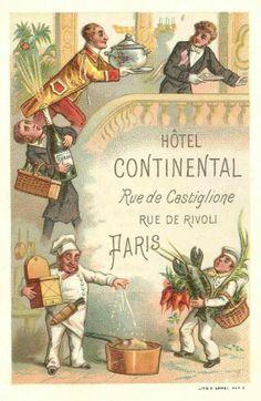 HOTEL CONTINENTAL PARIS - vintage