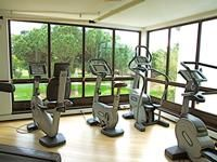 Fully equipped gym with quilified fitness trainers ovelooking the  the landscaped gardens