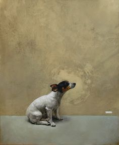 rat terrier : Dog portrait by Fabian de la Rosa, Filipino artist, 1869-1938. The artist obviously had alligator treats for the handsome guy while painting this.