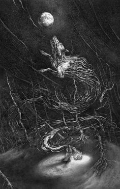The Seeker (c. 2015 - Ink on paper) - bysepraven