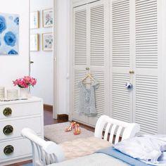 White Painted Open Louvre Door