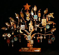 Nativity Shrine and Ornament Tree with Retablos and Milagros. $600.00, via Etsy. Absolutely love this one!