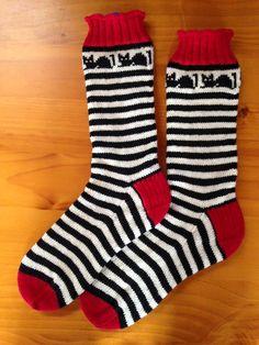 Croozy Catz Socks pattern by Judy Kennedy