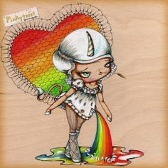 Sweet Unicorn Carries a Rainbow in Her PocketBig by pinkytoast, $14.00