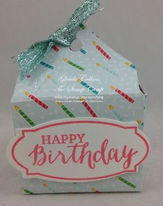 Tuesday, May 24, 2016 Today's little Treat Box was made using (1) 6 x 6 sheet of the Cherry On Top Designer Series Paper Stack. Just another idea for you using 1 sheet of DSP. I'm loving this challenge I...