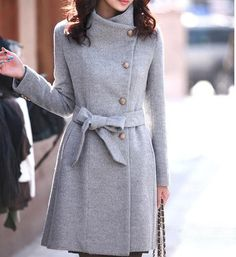 women's Fitted Wool autumn winter Pashm Coat by FGEmbelishments, $55.00