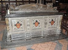 The tomb of John (1166-1216), King of England, AKA John Lackland, , Youngest son of Henry II and brother of Richard the Lion Heart . King John Sealed the Magna Carta ( on June 15, 1215, at Runnymede England. it was the first document forcing a King of England by a group of his feudal Barons, as an attempt to limit his powers by law and protect their privileges.