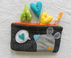 mousy pouch by krakracraft, via Flickr