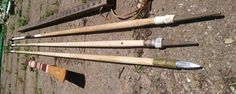 """Making """"Basketmakeresque"""" darts from pine dowels, and making 1/2"""" aluminum field points"""