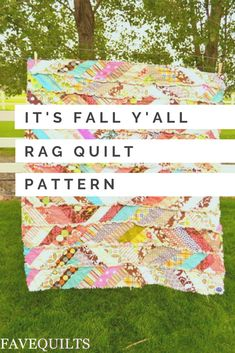 This fall quilt pattern is a snuggle rag quilt you will love. Diy Craft Projects, Diy Crafts, Rag Quilt Patterns, Fall Quilts, Fall Is Here, Quilt Making, Making Out, Sheep, Blankets