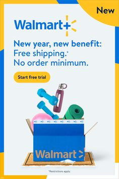 Free shipping.* No order minimum from Walmart.com. It's a new year & new opportunity to save time & money. ✨⚡✨⚡