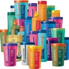 Kanechom Brazilian hair-care products based on natural ingredients such as shea butter, keratin, argan oil, açai, ceramides, aloe vera, joborandi, avocado, goat's milk, mixed fruits