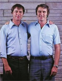Meet James Lewis & James Springer, identical twins were separated at 3 weeks of age & adopted by different families in Ohio. They met when they were 39, and lived within 45 miles of each other. Both had been named James by their adopted family. Both had worked as sheriff's deputies, married a woman named Linda, both divorced, both remarried a woman named Betty. One named a son James Alan, the other named his son James Allan. And they both had a dog named Toy.