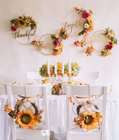 Fall is upon us and it's almost time for Thanksgiving. Here at A Little Confetti, we believe the table decorations are as important as the feast and have three tips to help you create a Thanksgiving table that is beautif. Thanksgiving Table, Thanksgiving Decorations, Table Decorations, Furniture, Home Decor, Homemade Home Decor, Home Furnishings, Interior Design, Home Interiors
