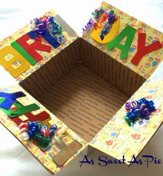 Birthday Banner tradition lives on - Love this box!                                                                                                                                                                                 More
