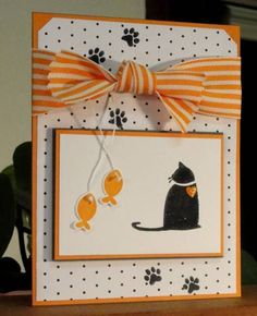 Kitty card for another special Neice by AudreyAnn - Cards and Paper Crafts at Splitcoaststampers