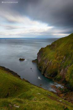 St. Abbs Head peaceful coastal view, Scotland