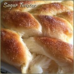 This soft twisted bread with sprinkled fine sugar baked to golden is one of my favourite pull-apart breads. I am not sure of its proper...