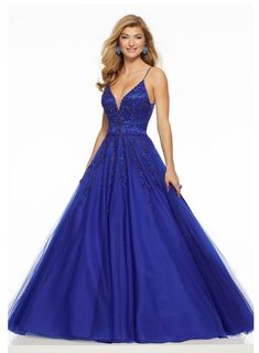Morilee Beautifully Beaded Tulle Prom Gown Featuring a Deep-V Neckline and Open Back. We carry formal gowns for every occasion including prom. Mori Lee Prom Dresses, Junior Prom Dresses, Straps Prom Dresses, Prom Dresses 2018, Designer Prom Dresses, Grad Dresses, Prom 2016, Beautiful Prom Dresses, Tulle Dress