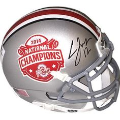1f35f4cd0 Athlon CTBL-017606 Cardale Jones Signed Ohio State Buckeyes 2014 National  Championship Logo Authentic Schutt Mini Helmet with No.12 - Jones Hologram